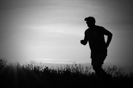 runner against sky